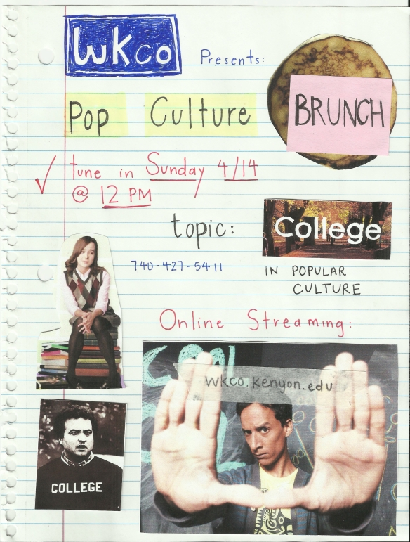 Pop Culture Brunch: College!
