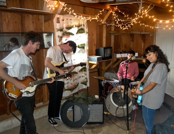 SPORTS practices in their garage for an upcoming Ohio tour. Photo by Teddy Farkas